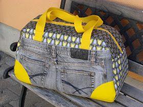 Meine neue Reisetasche ist endlich fertig...   passend zu meiner Handtasche           genäht nach Little holiday Bag von Kibadoo   schon ...
