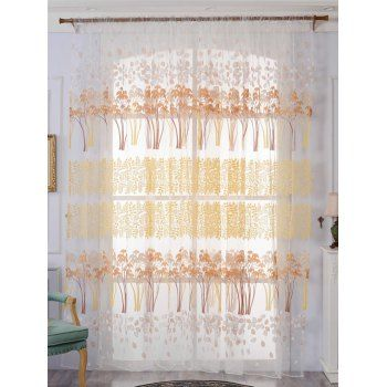SHARE & Get it FREE | Leaf Pattern Sheer Tulle Fabric Window CurtainFor Fashion Lovers only:80,000+ Items·FREE SHIPPING Join Dresslily: Get YOUR $50 NOW!