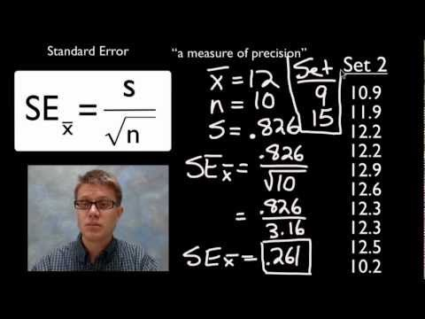 Standard Error - YouTube