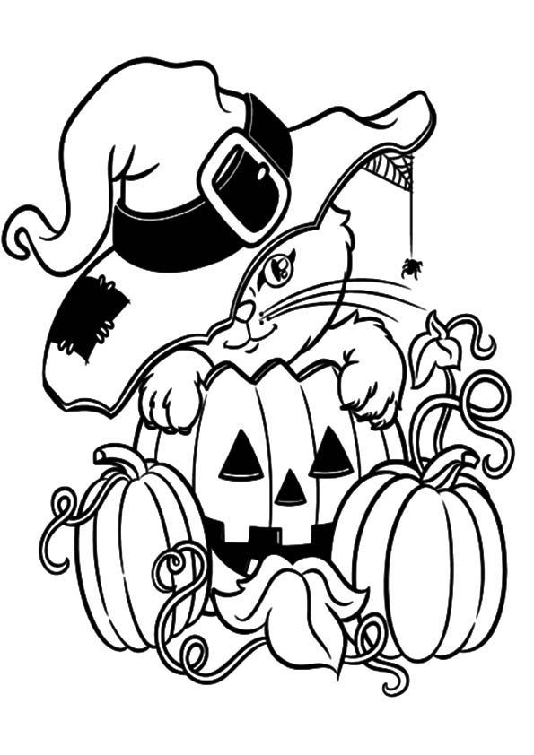 Print Coloring Image Pumpkin Coloring Pages Halloween Coloring