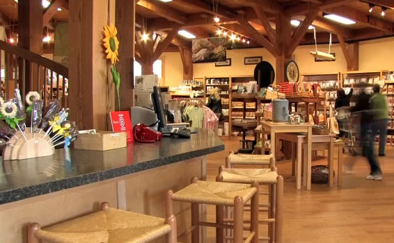 The King Arthur Flour Company Store in Vermont. I want to go here! I love baking and there catalog