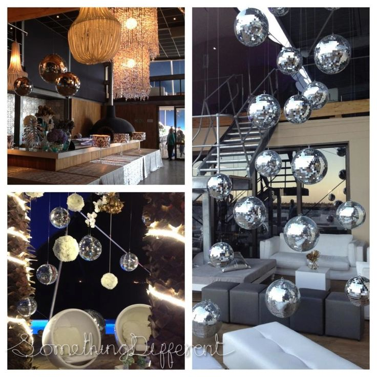 Something Different | Shimmy Beach Club | disco balls decor