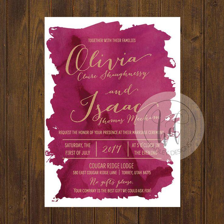 Watercolor Wedding Invitations, Water Color Wedding Invitations, Floral Wedding Invitations, Formal Wedding Invitations, Traditional Wedding Invitations, Unique Wedding Invitation