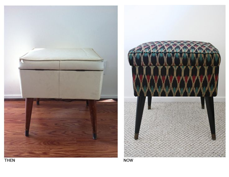 flea market flips before and afters | Remember the little stool that I found at the Long Beach Flea Market ?