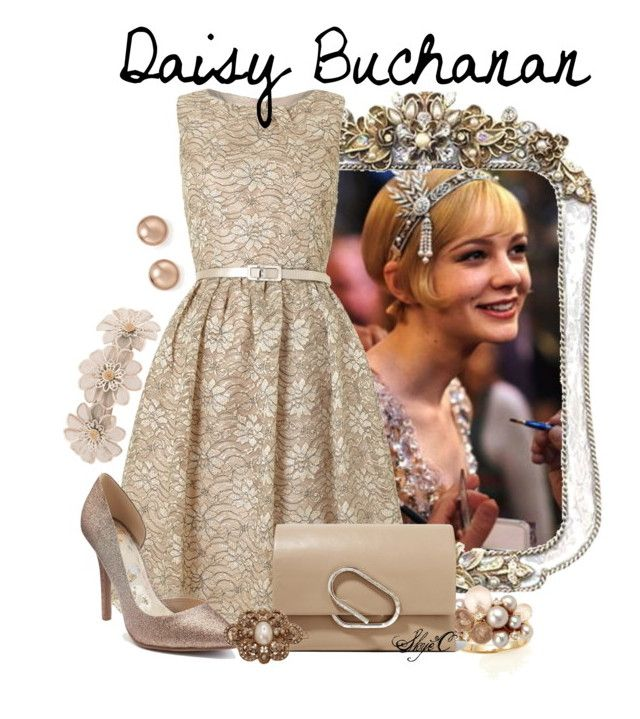"""""""Daisy Buchanan - The Great Gatsby"""" by rubytyra ❤ liked on Polyvore featuring Eliza J, Mimí, Juicy Couture, 3.1 Phillip Lim, L. Erickson, Bloomingdale's, greatgatsby, daisybuchanan and nondisney"""