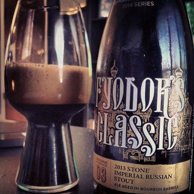 Stone Fyodor's Classic Russian Imperial Stout & the #Spiegelau stout glass - nice shot from @beertheexperience on instagram. #craftbeer #stout #beer