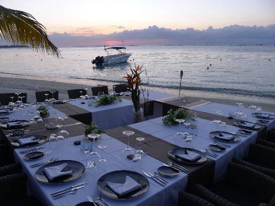 Dinner on the beach (Edgar1-12, Nov 2012) Best vacation ever - Trou aux Biches Resort & Spa - Mauritius