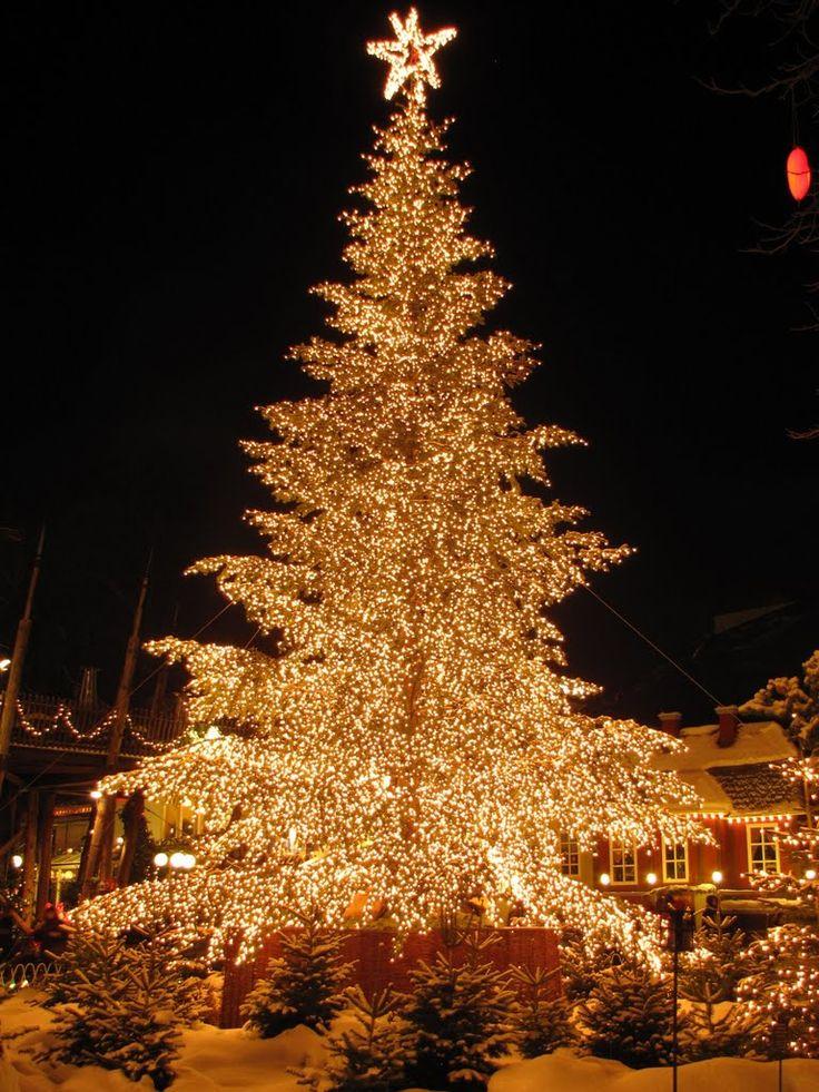 Christmas Tree Tivoli by Night Copenhagen Denmark