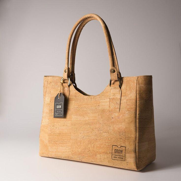 Grow's Quercus Grisea Natural Cork Handbag