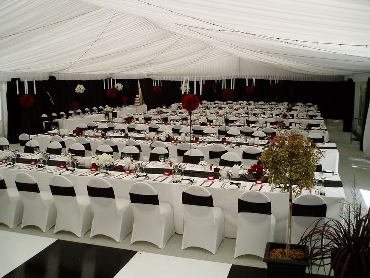 Silked Marquee with Black and White Theme