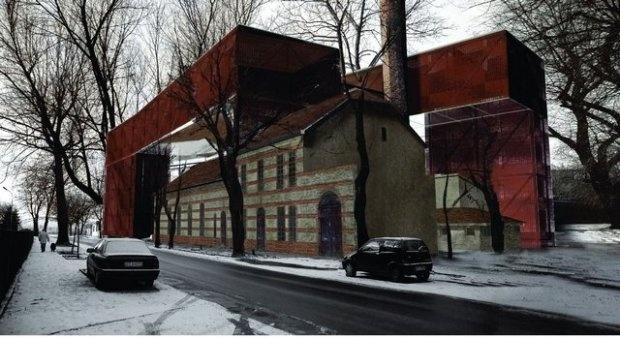 Krakow, Tadeusz Kantor Museum, Cricoteka, designer IQ2 Consortium Vision, nsMoonStudio.