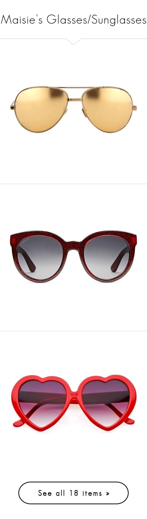 """""""Maisie's Glasses/Sunglasses"""" by skh-siera18 ❤ liked on Polyvore featuring accessories, eyewear, sunglasses, glasses, gold, gold mirrored aviators, gold aviators, gold mirror aviators, aviator mirror sunglasses and gold aviator glasses"""