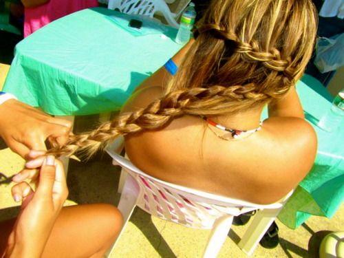 ,Braids Hairstyles, Fish Tail, Long Hair, Hair Makeup, Braid Hairstyles, Hair Nails, Hair Style, Waterfall Braids, Hair Long