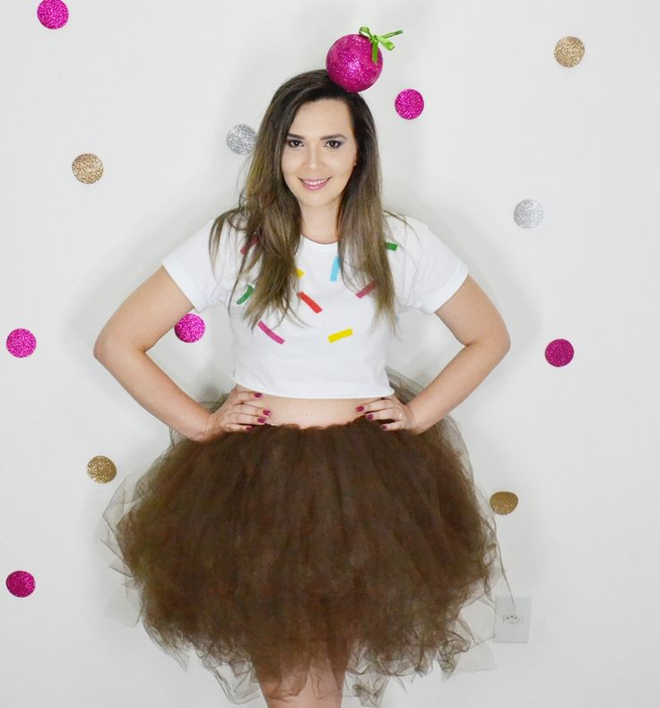 Fantasia de CupCake DIY <3 Carnaval/Halloween