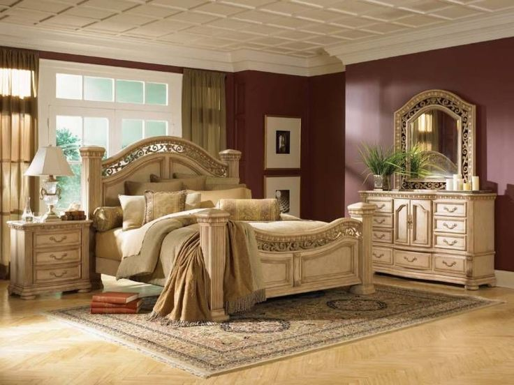 Wynwood Cordoba Antiguo Blanco KING Size Mansion Bed Bedroom Furniture