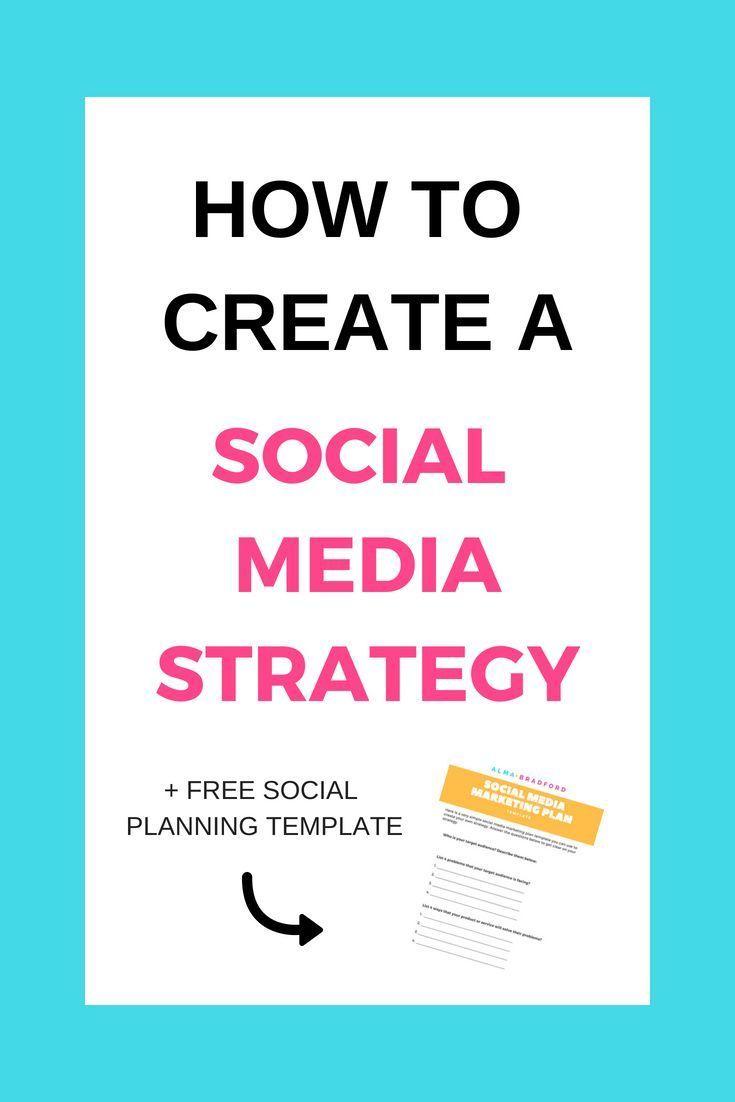 How To Create A Social Media Marketing Plan Alma Bradford Social Media Marketing Plan Social Media Planning Template Marketing Strategy Social Media