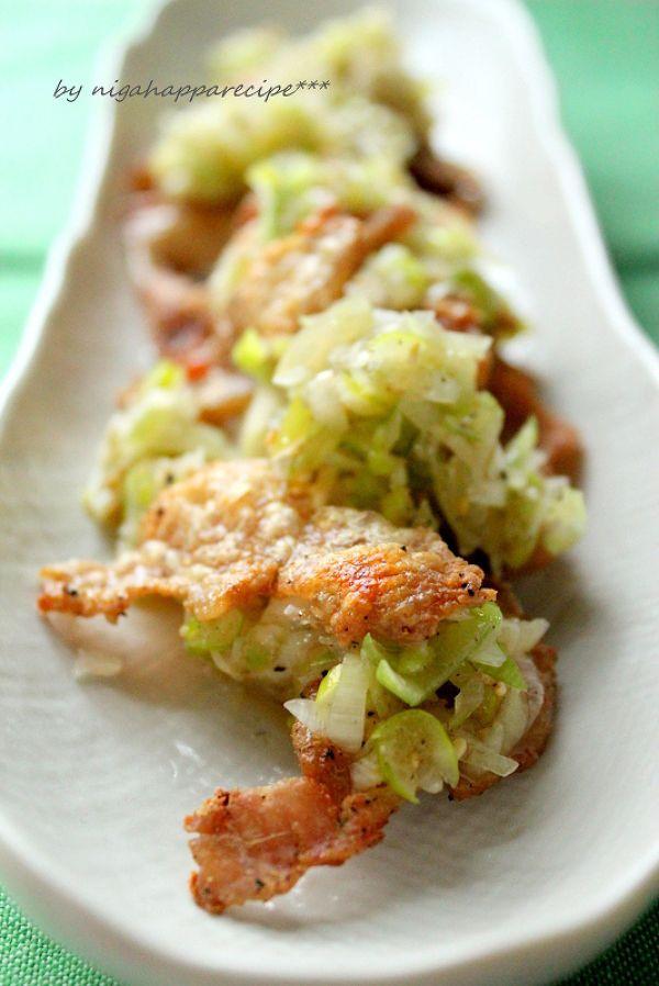 いつもの食卓を少し特別に レシピサイトNadia / カリカリ鶏皮のねぎ塩ダレ