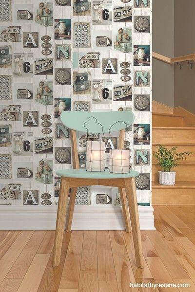 Radius Chair showcased by this amazing wallpaper...........
