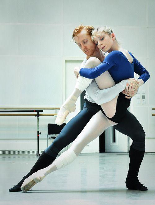 Sarah Lamb and Steven McRae in rehearsals for 'Metamorphosis'.