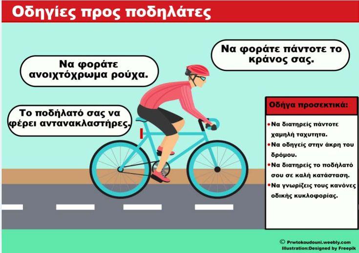 Κυκλοφοριακή Αγωγή - Οδηγίες προς ποδηλάτες
