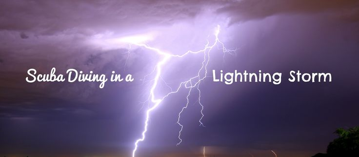What's it like scuba diving in a lightning storm?