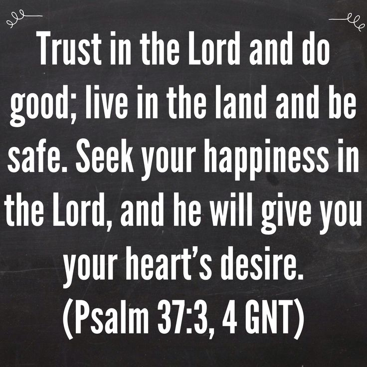 Trust In The Lord And Do Good; Live In The Land And Be Safe.