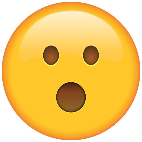 Surprised Face Emoji - Shocked by an unexpected turn of events? This emoji will reflect your surprise perfectly.