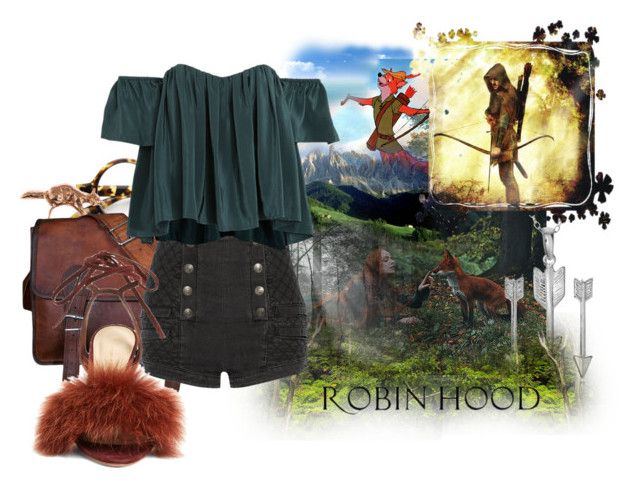 """Robin Hood"" by cute-but-psycho-123 ❤ liked on Polyvore featuring Ciel, Disney, Rainforest, ZeroUV, By Emily, Pierre Balmain, Stone_Cold_Fox, Loeffler Randall and Journee Collection"