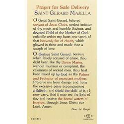 St. Gerard - Prayer for Safe Delivery - Prayer Card .75ea