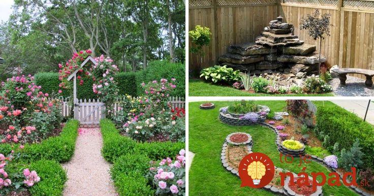 Prinášame vám krásne nápady, ktoré premenia každú záhradu na rozprávkové miesto.