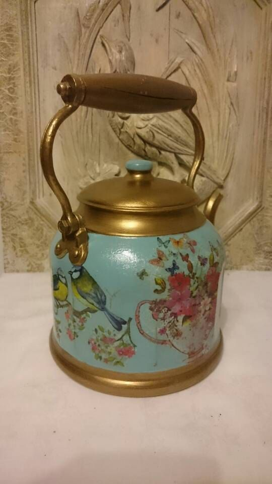 Old French Farmhouse Kettle Decorative Kettle by FrenchPastTimes