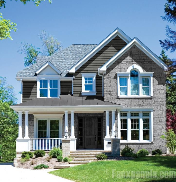 31 Best Exterior Vinyl Accent Panels Images On Pinterest: vinyl siding that looks like stone
