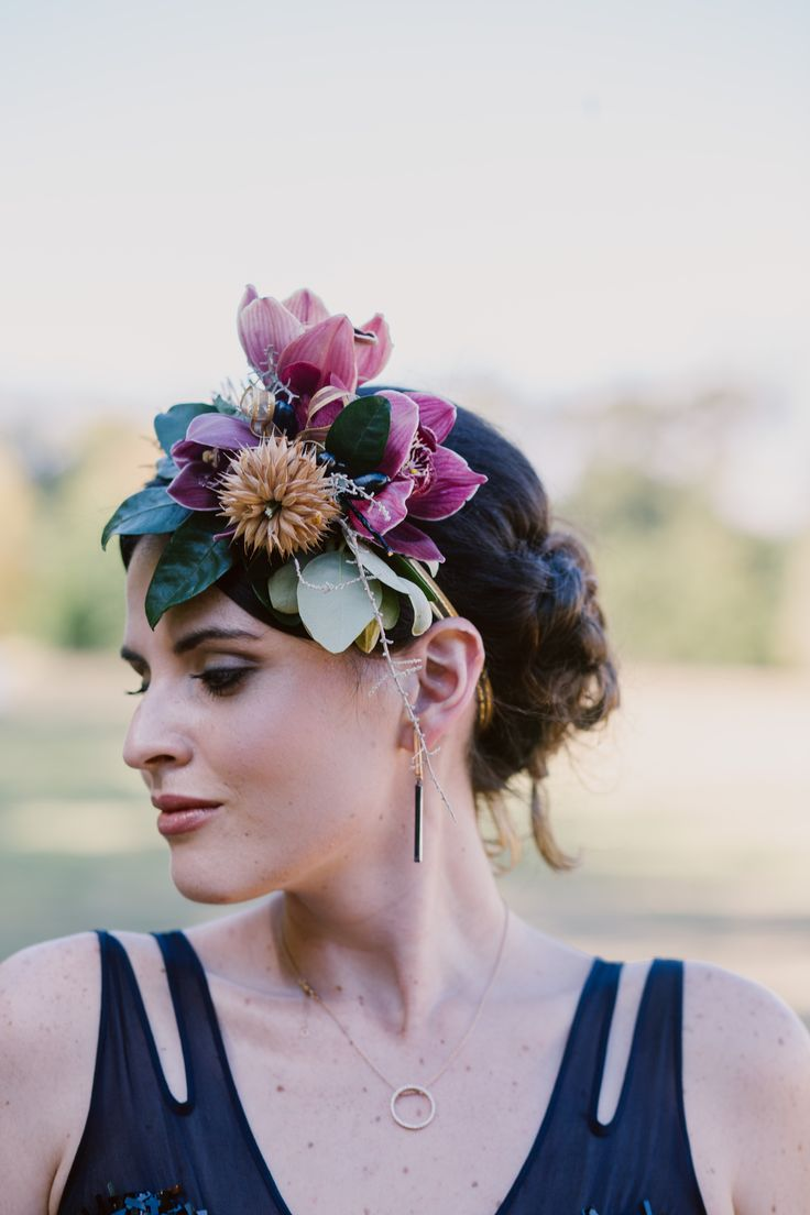 A different take on bridal accessories, and on the flower crown - www.weddingconcepts.co.za