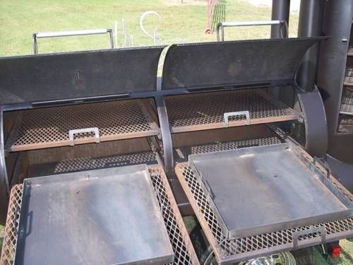 NEW-BBQ-pit-smoker-cooker-and-Charcoal-grill-trailer