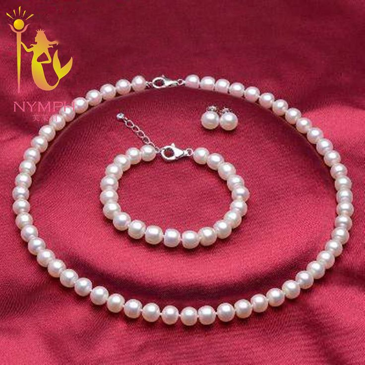 NYMPH pearl jewelry sets classic fine jewelry 8-9mm fresh water pearl jewelry set bridal party gift for women[TZ007]