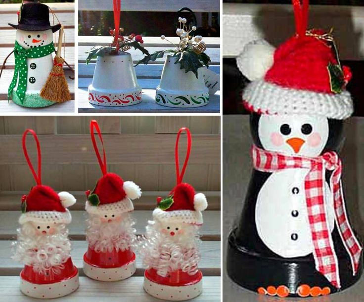Clay Pot Christmas Ornaments