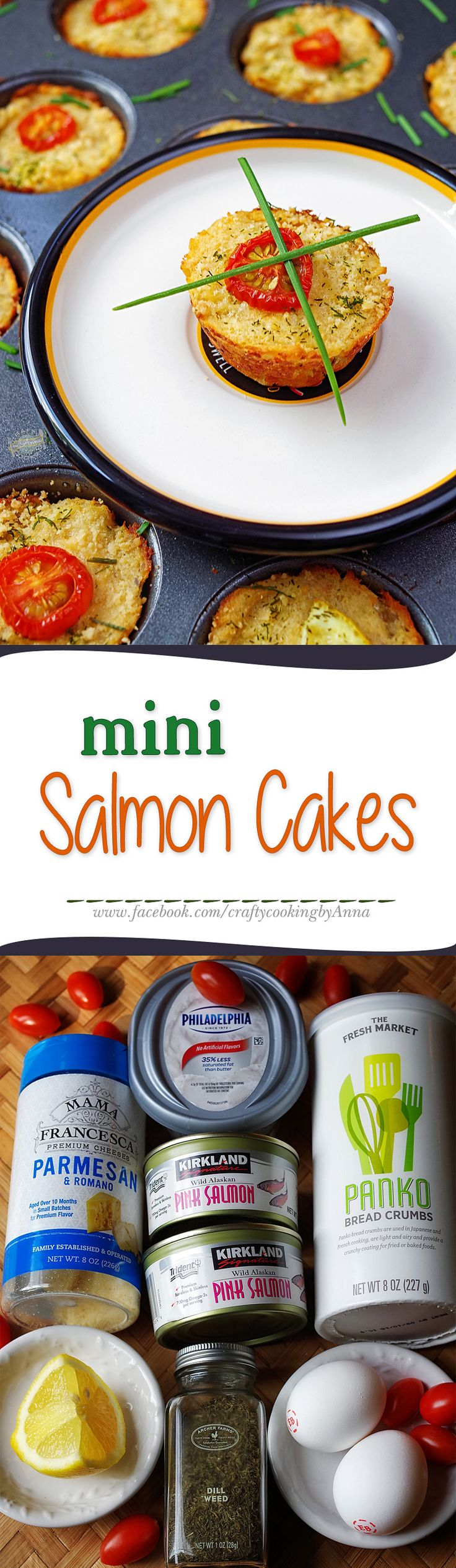 Mini Salmon Cakes! #Easy #Delicious #Everyday #Beautiful #Homecooking #Recipes #Dinner #Breakfast #Lunch #Kids #Foddie #Food #Fresh #Foodfollol #Low-Carb #Low-Cal #Yum #yummy #foodlover #tasty #foodheaven #Hungry #FollowMe #CraftyCookingByAnna If you like my recipes, please Follow Me - http://www.pinterest.com/annavil/ and https://instagram.com/craftycookingbyanna/ and Join Me -https://www.facebook.com/craftycookingbyAnna Thank you!