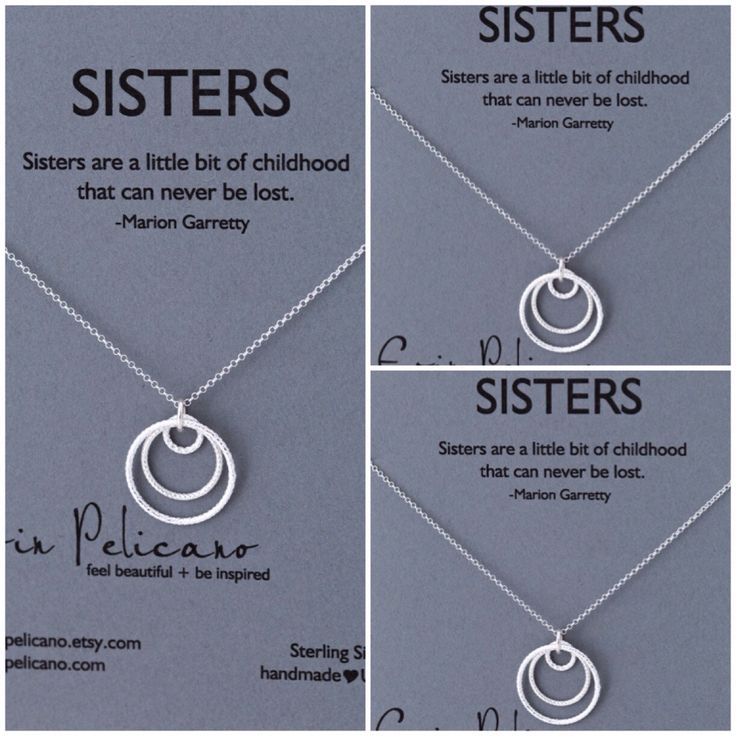A personal favorite from my Etsy shop https://www.etsy.com/listing/165749735/sale-sisters-necklace-three-sisters