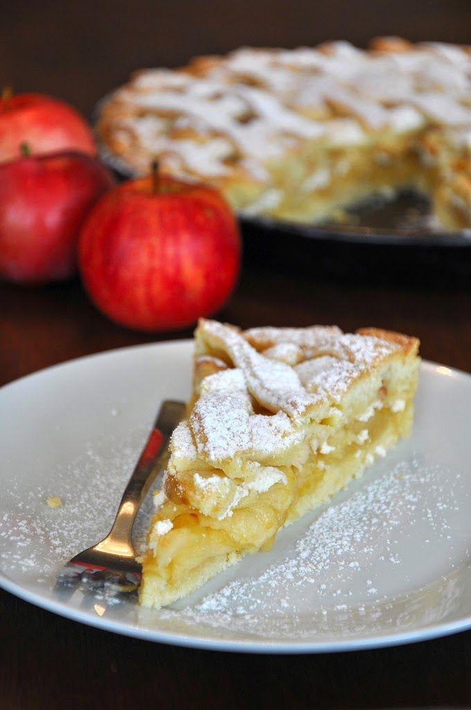 Na háji: Jablkový mrežovník s tvarohom, medom a vanilkou