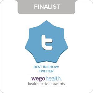 "(From Feb 11) I just got my @WEGO Health health activist awards ""Best in Show: Twitter"" finalist badge :)"