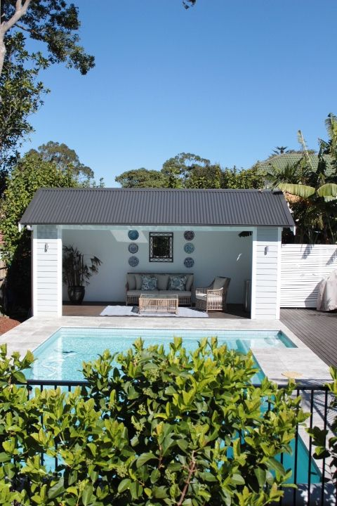67 best images about outdoor on pinterest pool houses for Pool houses and cabanas
