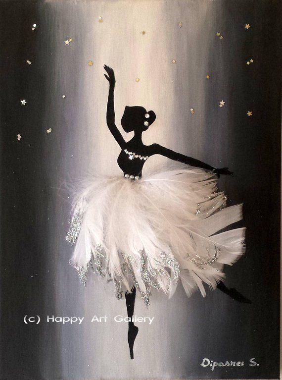 Charmante Ballerina-Baby Mädchen Kinderzimmer Dekor Ballerina Wandkunst Ballerina Tänzerin … – Diy Geschenke Ideen