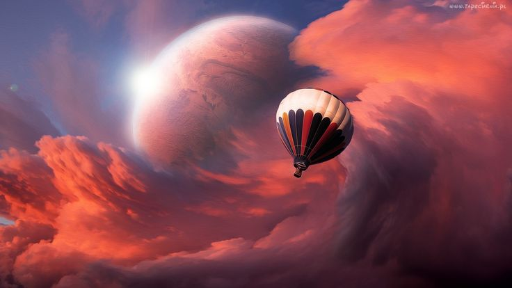 Balon, Chmury, Planeta