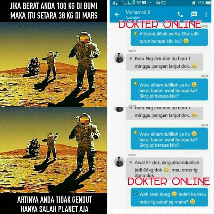 Berat badan 100kg di Bumi setara dgn 38kg di Mars  . Artinya kamu tidak GENDUT hanya salah planet aja  Hahahaha.. Mau beratnya IDEAL? PAKET 100% DIJAMIN SAMPAI & AMAN  . YANG LAIN SUDAH BANYAK YANG JADI BUKTI.. Nah Kamu ??  . YUK ACTION JUGA JNG BANYAK MIKIR..  UDAH BNYAK BUKTI KO MASIH MIKIR  . Mau Konsul apa? - Tinggi Badan / Langsing/Gemuk - Mata Minus/silinder - Keputihan - Pelebat Rambut - Putih Badan/wajah - Pengencang PayuDara / Kejantanan Pria. . Chat for INFO sobat HERBALHALAL.ID…