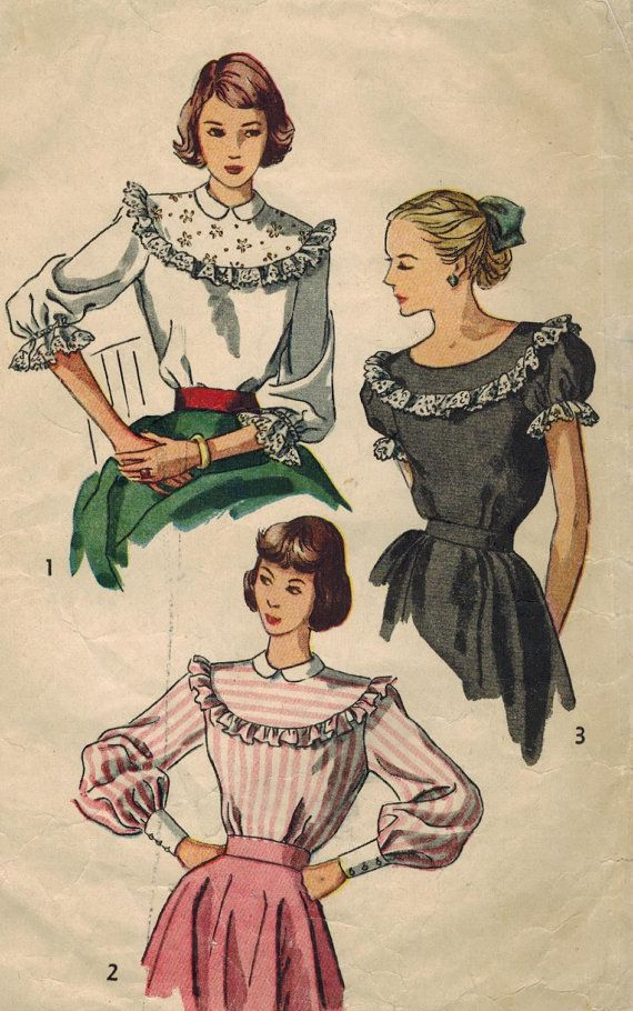 1940s Simplicity 2483 Vintage Sewing Pattern by midvalecottage