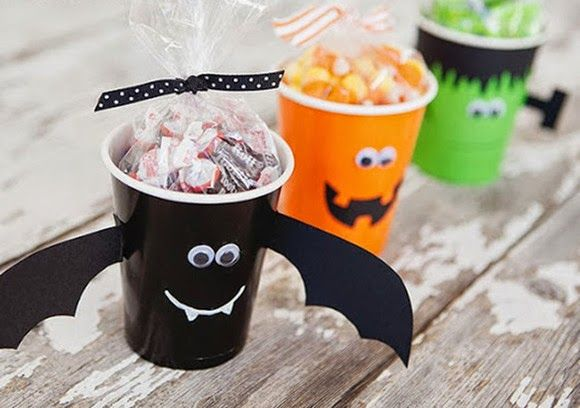Diy...Divertidos vasos para Halloween   Decoración