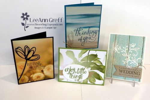 Serene Scenery Designer Paper Stack makes gorgeous and simply cards! from Flowerbug's Inkspot