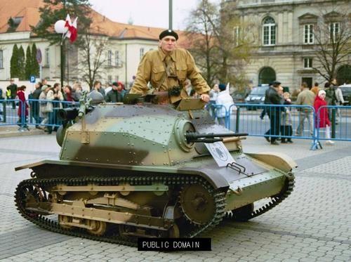 Polish TKS. A very light tank, with Hotchkiss 8mm machine gun.