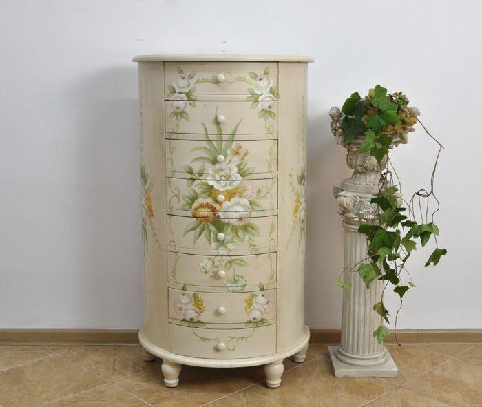 Półokrągła komoda w stylu biedermeier / Biedermeier chest of drawers