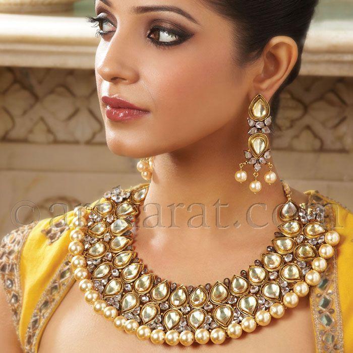 Asian+bridal+Jewellery%2C+Kundan+Jewellery+by+Art+Karat+4.jpg 700×700 pixels